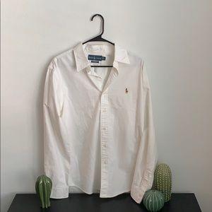 Ralph Lauren Custom Fit Mens Dress Shirt